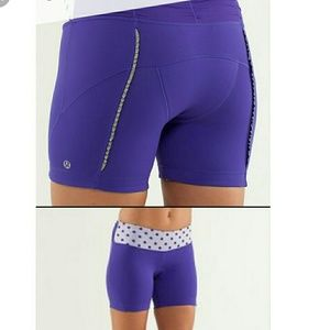 Lululemon Purple Biking Shorts